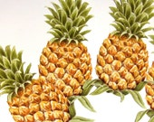 Paper Embellishements Paper Ephemera Pineapple Decoupage Paper Lot of 24 Pieces Folk Art Paper Fruit