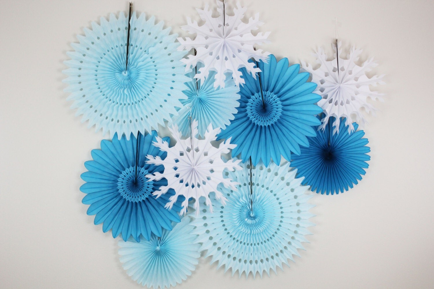 Birthday Decorations Tissue Paper Fans snowflake light