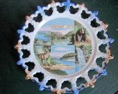 Vintage Pocono Mts., PA  Souvenir Plate