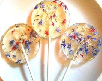 SPECIALTY CANDY, Political Party Favors, Red, White and Blue, Edible Favors, Bachelor Buttons, Giant Lollipops, Labor Day, 25 Favors