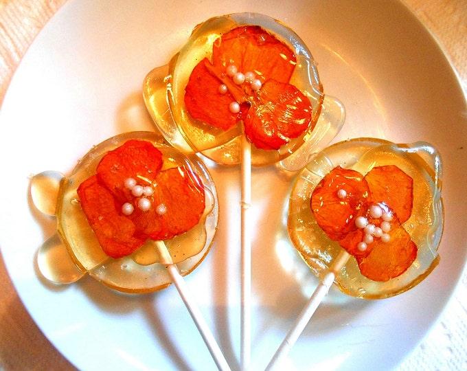Artisan, Lemon, Edible Giant Lollipops, Fresh, Orange, Candied, Rose Petals