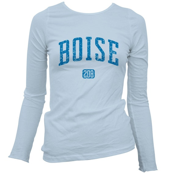 Women 39 s boise 208 ls t shirt long sleeve ladies by for Boise t shirt printing