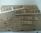 RESERVED FOR JULI - Custom made Scrabble sign