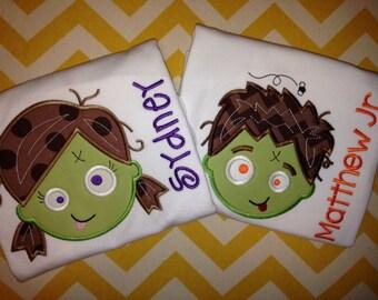 Zombie Halloween Shirt for Kids - Kids Halloween Shirt - Monster Halloween