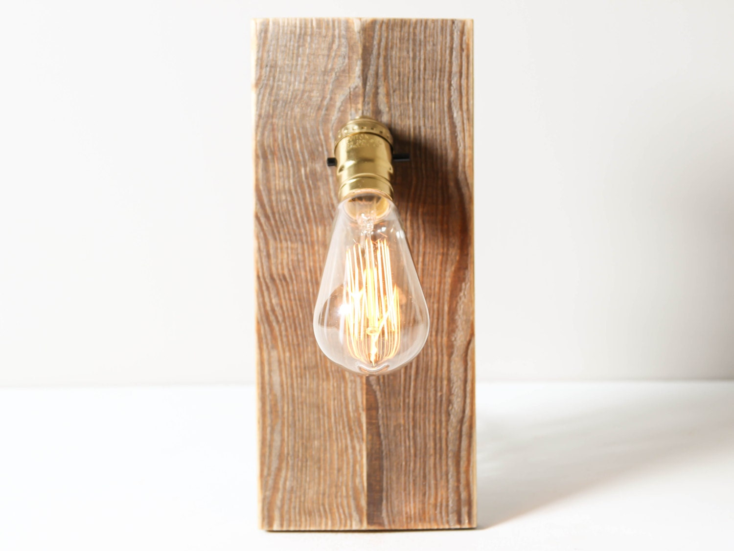 Salvaged Wood Wall Lamp Rustic Wall Sconce by WorleysLighting