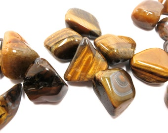 "Tiger Eye Tumbled Stone 1 Polished Natural Crystal 23mm -37mm / .9"" - 1.5"" SALE"