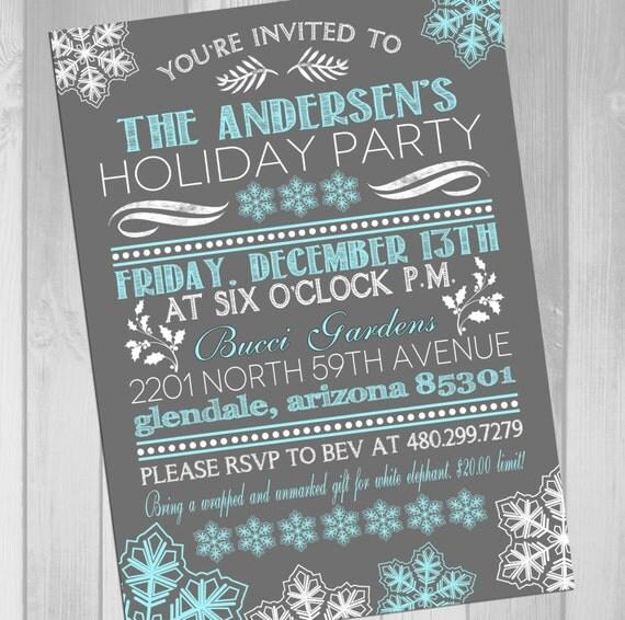 Items similar to Printable Christmas Party Invitation ...