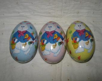 Tin Toy Easter Eggs Set of Three