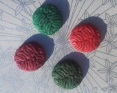 Zombie Brains Cabochon 10 Pieces 33 x 35 mm Handmade & Hand Painted