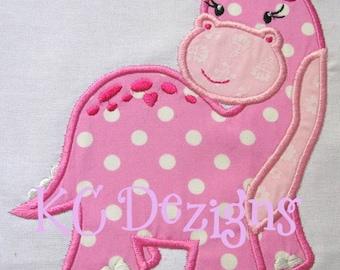Pink Dinosaurs 01 Machine Applique Embroidery Design - 4x4, 5x7 & 6x8