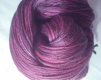 Mulberry - Crystal Fingering Weight - Hearthside Fibers Hand Dyed
