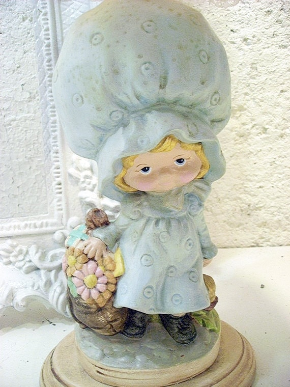 Take 50% OFF Vintage Girl Figurine Lamp and Shade/Nursery Decor/Nursery Lamp/Vintage Lamp/Chalk lamp