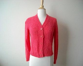 Vintage Bubblegum Pink Cardigan