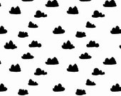 Baby Bedding Crib Bedding Cot Set 2/3 Piece Premium Modern Prints Clouds in Black w/ other options