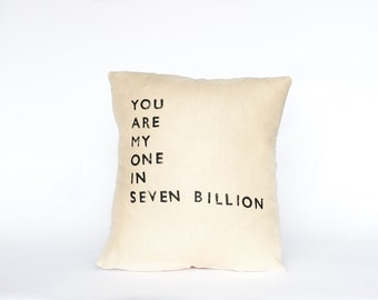 YOU ARE MY // Linen Quote Pillow // Handmade Modern Heirlooms