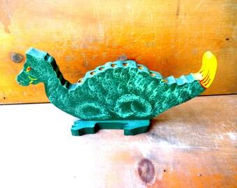 Vintage dinosaur pencil holder stegosaurus