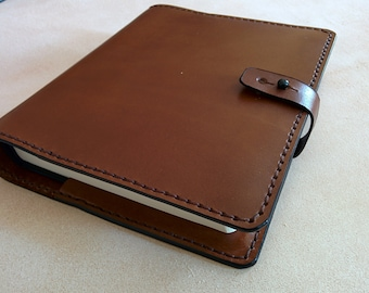 Handmade Leather Bible Cover - Brown-Made in the USA