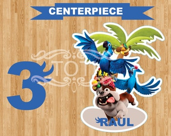 Rio  Personalized Centerpiece  (DIGITAL FILE ONLY)