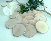 """25  (3"""")  Birch Wood tree slices - Birch logs - Save the date - diy projects - Rustic wedding - Magnets - Christmas tree ornaments"""