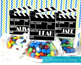 Hollywood Movie Personalized ClapBoard Candy Favor Containers