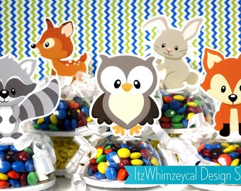 Enchanted Woodland Creatures Candy Favor Containers