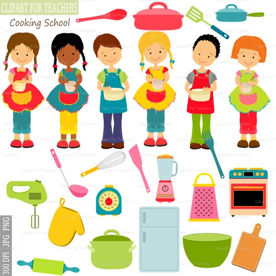 Cooking Clipart, Cooking Children, Children Clipart