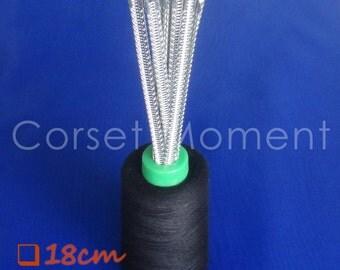 6 * 18CM Long Flexible Corset Spiral Steel Bones