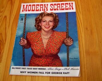 """Vintage 40's  """"MODERN SCREEN""""  Magazine  AUGUST 1941 Issue"""