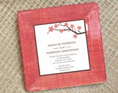 Wedding invitation plate - 1st anniversary gift - memento - personalized - couples gift - keepsake - unique wedding gift  - wedding plate