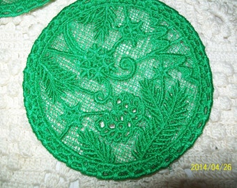 FSL Green Pine Design Coaster Set