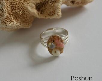 Seashell Jewelry ... Sweet Ocean Ring (1166)