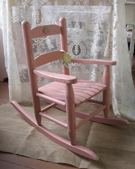 Shabby Chic Rocking Chair Children S Pink Porch By Fannypippin