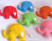 Party Favor - Elephants - Set of 6