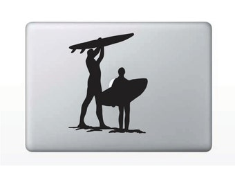 Surfers Macbook Decal Hawaiian Stickers