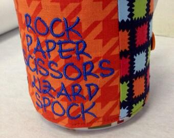 Rock Paper Scissors Lizard Spock Drink Cozy