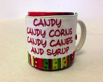 Candy, Candy Corns, Candy Canes & Syrup Elf Drink Cozy
