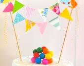 "Vintage Fabric Cake Bunting- ""Spring Carnival"""