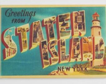 Greetings from Staten Island Fridge Magnet