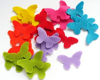 Felt butterflies Raimbow, 28 pieces