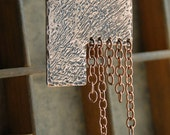 Statement Necklace Copper Necklace Chain Pendant Modern Industrial Funky Edgy Necklace