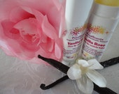 SALE - Vanilla Rose - Lip and Cuticle Balm - .15oz Oval Twist Up Tube - 100% Organic - BPA Free Container