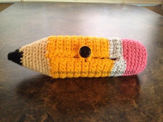 Items similar to Crochet Pencil Case Pouch - Pencil Case ...