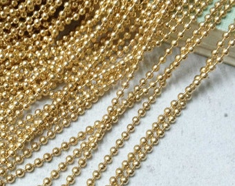 16ft 5 meters of Rose Gold Brass Ball Chain Necklace Findings 1.5mm