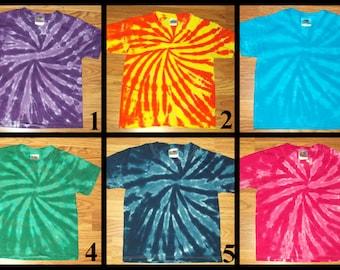 S M L XL 2x 3x 4x 5x 6x Tie Dye Shirt, Kids, Adult, Plus Size tie dye