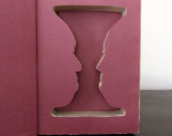 Dr. Jekyll and Mr. Hyde Candlestick Faces Illusion Booksafe - Hollow Book Safe - Stevenson
