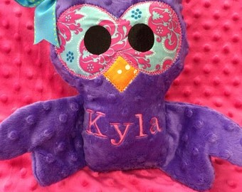 Monogrammed Owl
