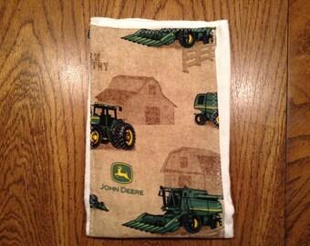 John Deere Burp Cloth, John Deere Baby Shower, Farmer Baby gift, Tractor cotton print baby diaper burp cloth, baby shower gift