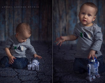 NEW 8ft x 8ft Vinyl Photography Backdrop / Cracking Asphalt Concrete