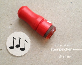 Mini Music Notes Rubber Stamp