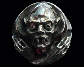 Stainless Steel Nosferatu the Vampire Ring - Free Re-Size/Free Shipping Worldwide